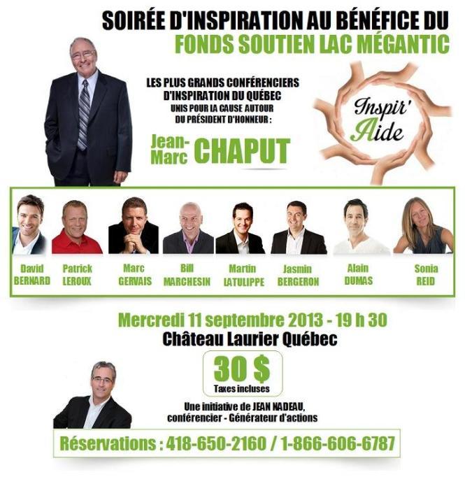 Jean Nadeau fond soutien Lac-Mégantic