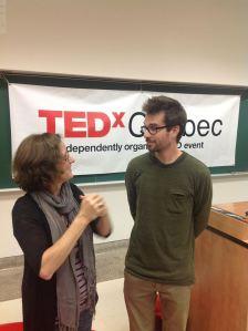 TEDxQuébec 2013 Lynne Pion et Martin Villeneuve cinéaste et premier québécois invité au TED en Californie