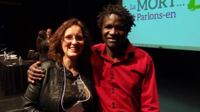 Boucar Diouf humoriste et conteur, biologiste