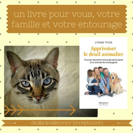 Deuil animalier livre promo Lynne Pion