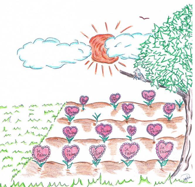 Jardin d'amour Livre Est-ce que tout le monde meurt tout droit réservé Lynne Pion au lynnepion.com