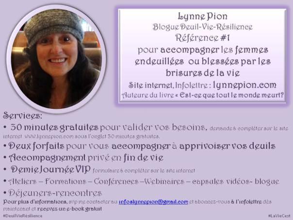 Présentation Lynne Pion services en mauve