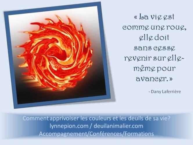 Citation La vie c'est comme une roue Deuil-Vie-Résilience Lynne Pion