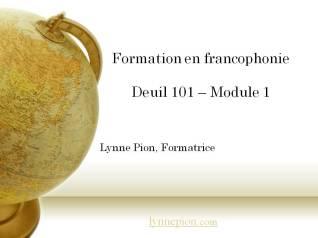 Formation Deuil 101 Module 1 par Lynne Pion
