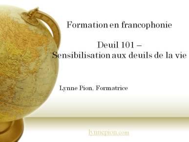 Formation Deuil 101 par Lynne Pion