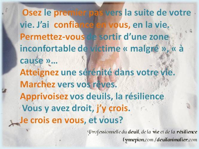 Citations premier pas Lynne Pion 2016