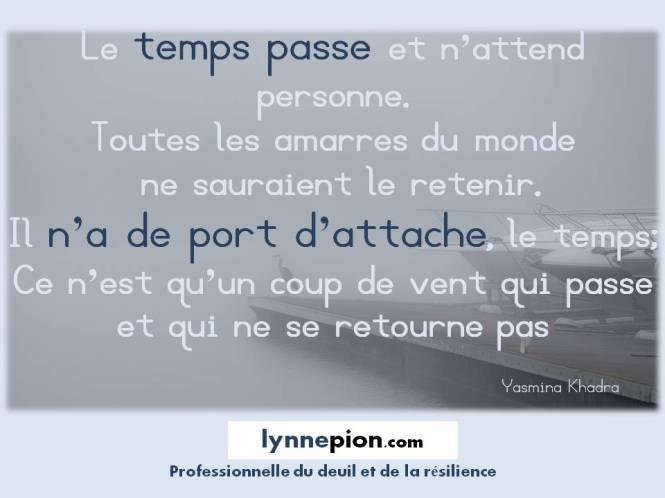 Citations Le temps, toutes les amarres Lynne Pion 2016